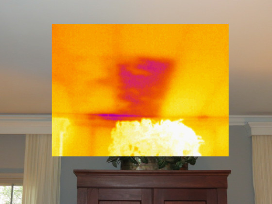 Missing insulation found with infrared thermography