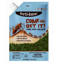 Come and Get It Fire Ant Killer - Kills the Queen & the Mound, No Mixing, Dead Ants in 24 Hours, No Watering Necessary, Contains 0.015% Spinosad, No Odor. Use on Lawns & Other Turf Areas Such as Recreational Areas, Rangeland, Permanent Pastures, Ornamentals, Landscapes, Greenhouses & Most Crops including, but not limited to tree nuts, citrus, stone fruit, tree fruits soybeans and vegetables. Covers Up To 10,000 sq. ft.